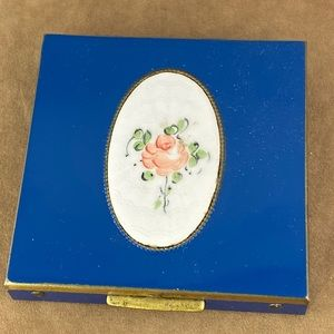 Rex Fifth Avenue Rose and Blue Powder Compact